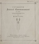 University of Montana Commencement Program, 1912