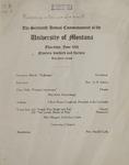 University of Montana Commencement Program, 1913