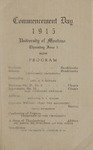 University of Montana Commencement Program, 1915
