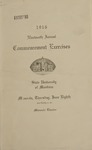 University of Montana Commencement Program, 1916