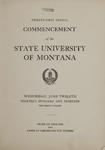 University of Montana Commencement Program, 1918