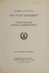 University of Montana Commencement Program, 1919