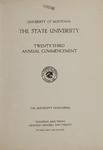 University of Montana Commencement Program, 1920