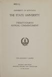 University of Montana Commencement Program, 1921