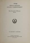 University of Montana Commencement Program, 1924