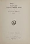 University of Montana Commencement Program, 1928
