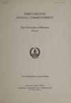 University of Montana Commencement Program, 1929