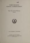 University of Montana Commencement Program, 1934