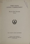 University of Montana Commencement Program, 1936