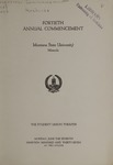 University of Montana Commencement Program, 1937