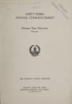 University of Montana Commencement Program, 1940