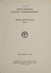University of Montana Commencement Program, 1944