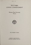 University of Montana Commencement Program, 1950