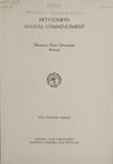 University of Montana Commencement Program, 1951