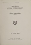 University of Montana Commencement Program, 1953