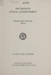 University of Montana Commencement Program, 1954