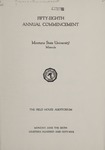University of Montana Commencement Program, 1955