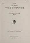 University of Montana Commencement Program, 1957
