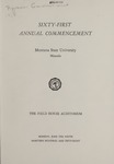 University of Montana Commencement Program, 1958
