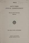 University of Montana Commencement Program, 1960