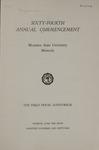 University of Montana Commencement Program, 1961
