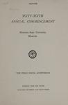 University of Montana Commencement Program, 1963