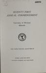 University of Montana Commencement Program, 1968