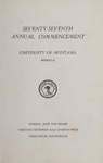 University of Montana Commencement Program, 1974