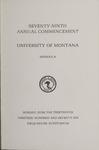 University of Montana Commencement Program, 1976