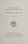 University of Montana Commencement Program, 1978