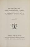 University of Montana Commencement Program, 1979
