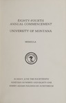 University of Montana Commencement Program, 1981