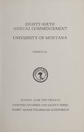 University of Montana Commencement Program, 1983