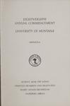 University of Montana Commencement Program, 1985