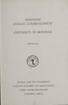 University of Montana Commencement Program, 1987