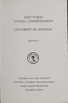 University of Montana Commencement Program, 1988