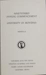 University of Montana Commencement Program, 1990