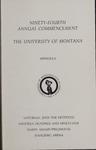 University of Montana Commencement Program, 1991