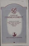 University of Montana Commencement Program, 1992