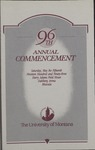 University of Montana Commencement Program, 1993