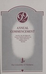University of Montana Commencement Program, 1996