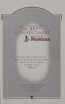 University of Montana Commencement Program, 1997 by University of Montana--Missoula. Office of the Registrar