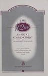 University of Montana Commencement Program, 1999 by University of Montana--Missoula. Office of the Registrar