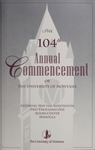 University of Montana Commencement Program, 2001 by University of Montana--Missoula. Office of the Registrar