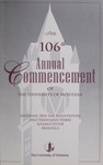 University of Montana Commencement Program, 2003 by University of Montana--Missoula. Office of the Registrar