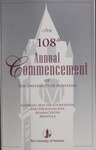 University of Montana Commencement Program, 2005 by University of Montana--Missoula. Office of the Registrar