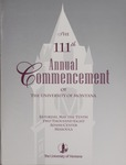 University of Montana Commencement Program, 2008 by University of Montana--Missoula. Office of the Registrar