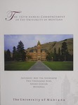 University of Montana Commencement Program, 2009 by University of Montana--Missoula. Office of the Registrar