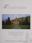 University of Montana Commencement Program, 2011 by University of Montana--Missoula. Office of the Registrar