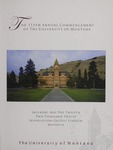 University of Montana Commencement Program, 2012 by University of Montana--Missoula. Office of the Registrar